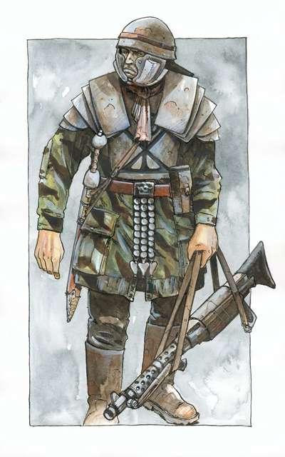 Dieselpunk Soldier Concept Art: Modern Le...