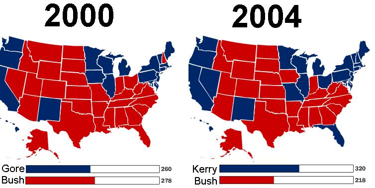 Will this be the electoral map in 2004? | CivFanatics Forums